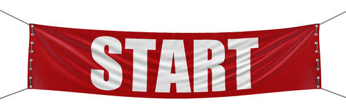 Start Banner (clipping path included) Royalty Free Stock Image