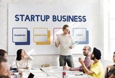 Start Bedrijfsstrategie Planningsconcept stock foto