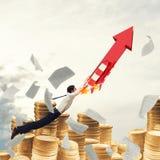 Start bedrijfssucces het 3d teruggeven Royalty-vrije Stock Afbeelding