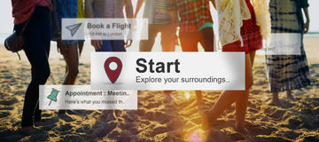 Start Begining Launch Starting Ready Forward Concept Stock Photos