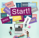 Start Beginning Startup Launch Forward Motivation Concept Royalty Free Stock Images