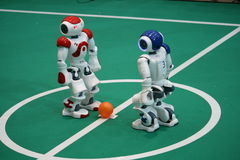 Start bei Robocup 2009 Stockbilder
