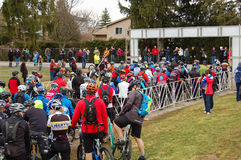 The Start of a Bike Race Royalty Free Stock Photography
