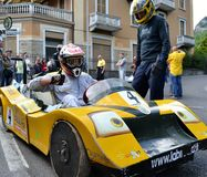 Before the start in birocia car during racing mountain competition. Stock Image