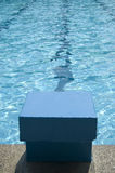 Start block in a swimmingpool Stock Images