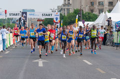 Start on Bucharest International Half Marathon 2015. Start on Bucharest International Half Marathon stock image