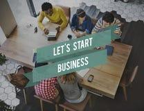 Start Business Aspiration Creative Ideas Launch Concept Stock Image