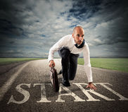 Start of business career Royalty Free Stock Photo