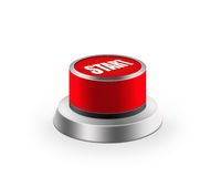 Start button. Red start button isolated on a white background Royalty Free Stock Photos