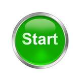 Start button. An illustration of 3d metallic start button Royalty Free Stock Photos