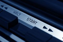 Start button Royalty Free Stock Image