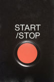 Start button. Start and stop red button stock image