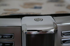 Start button of the coffee machine Royalty Free Stock Images