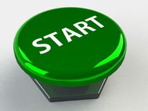 Start button 3d Royalty Free Stock Images