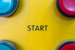 Start button. royalty free stock image