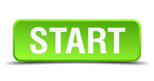 Start button. Start square 3d realistic isolated web button. start Royalty Free Stock Image