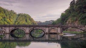 Start of the Canal, Naviglio Martesana Royalty Free Stock Photo