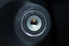 Start the car ignition. Stock Images