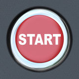 Start - Car Push Button Starter Stock Photography