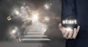 Start of the career ladder. Stock Photo