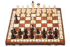 Start of a chess game Stock Photos
