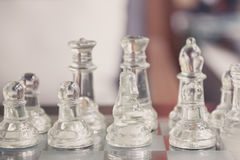 Start a chess game Royalty Free Stock Image