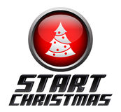 Start christmas - start button Royalty Free Stock Images