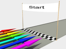 Start with colored arrows №3 Royalty Free Stock Photos