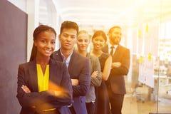 Start commercieel team als groep Royalty-vrije Stock Afbeeldingen