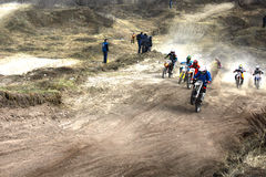 The start of the competition in motocross Stock Photos