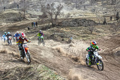 The start of the competition in motocross Royalty Free Stock Photo