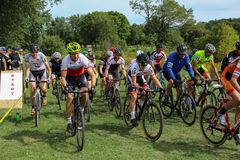 The Start of a Cyclocross Race Royalty Free Stock Photos