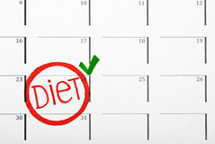 calendar diet Royalty Free Stock Photos