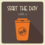 Start the day with coffee Royalty Free Stock Photos