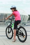 Start the day off with a bike ride stock images