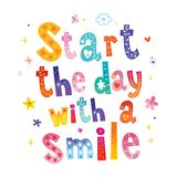 Start the day with a smile vector illustration
