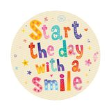 Start the day with a smile royalty free illustration