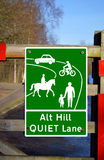 Start of designated Quiet Lane Stock Images