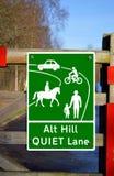 Start of designated Quiet Lane. The start of a designated Quiet Lane road traffic sign Stock Images