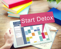 Start Detox Planning Wellness Healthy Concept royalty free stock images