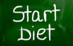 Start Diet Concept Royalty Free Stock Photography