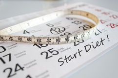 Start Diet Concept Royalty Free Stock Photos