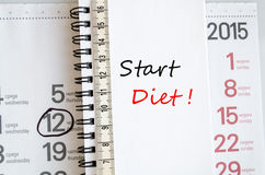Start Diet Concept Stock Images