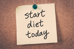 Start diet today Stock Photography