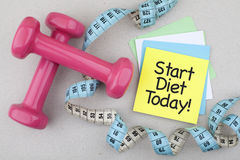 Start Diet Today Stock Image