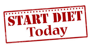 Start diet today Stock Photos