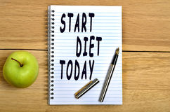 Start diet today text Stock Images