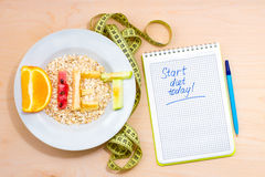 Start diet today Royalty Free Stock Photos