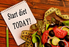 Start diet today! Royalty Free Stock Photos