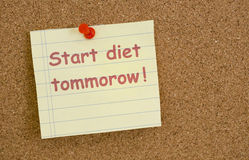 Start diet tommorow Stock Images